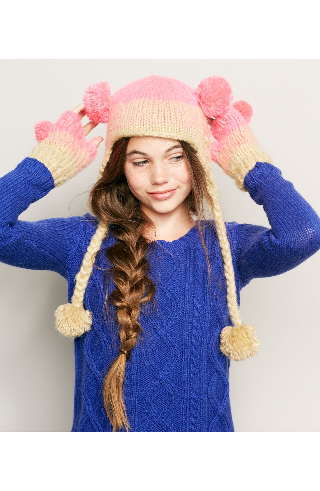 Alternate Image 2  - Peace of Cake 'Pigtail' Hat (Girls)