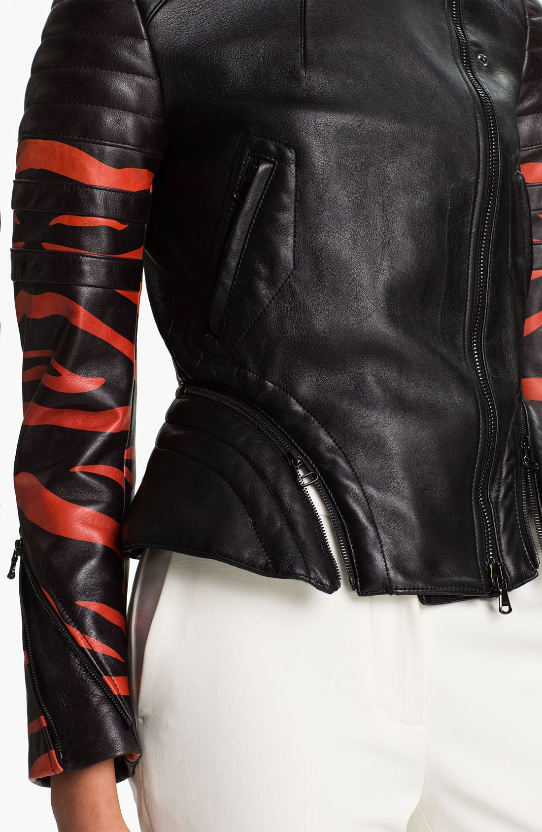 Alternate Image 3  - 3.1 Phillip Lim Peplum Motorcycle Jacket