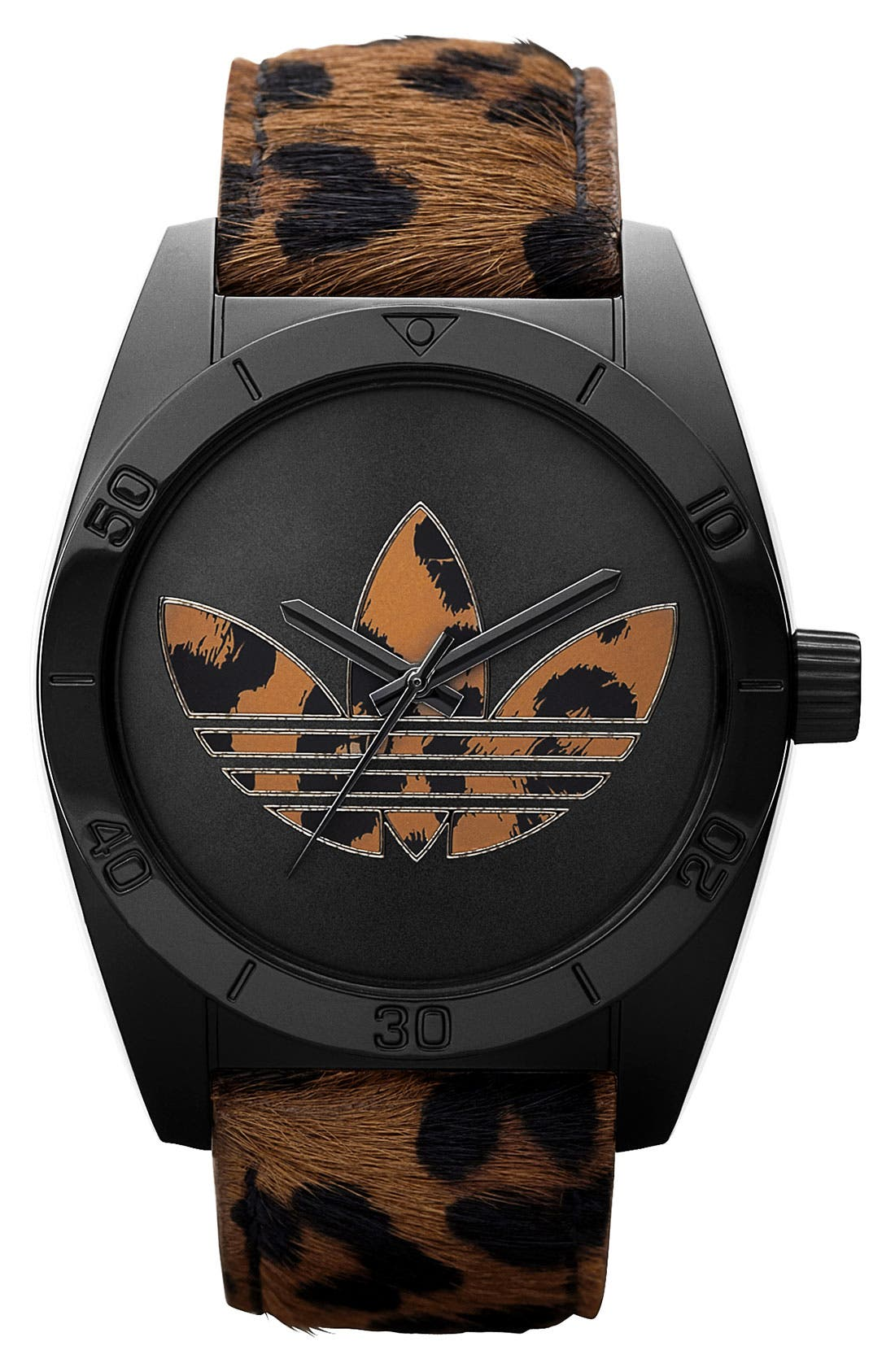 Alternate Image 1 Selected - adidas Originals 'Santiago' Animal Print Watch
