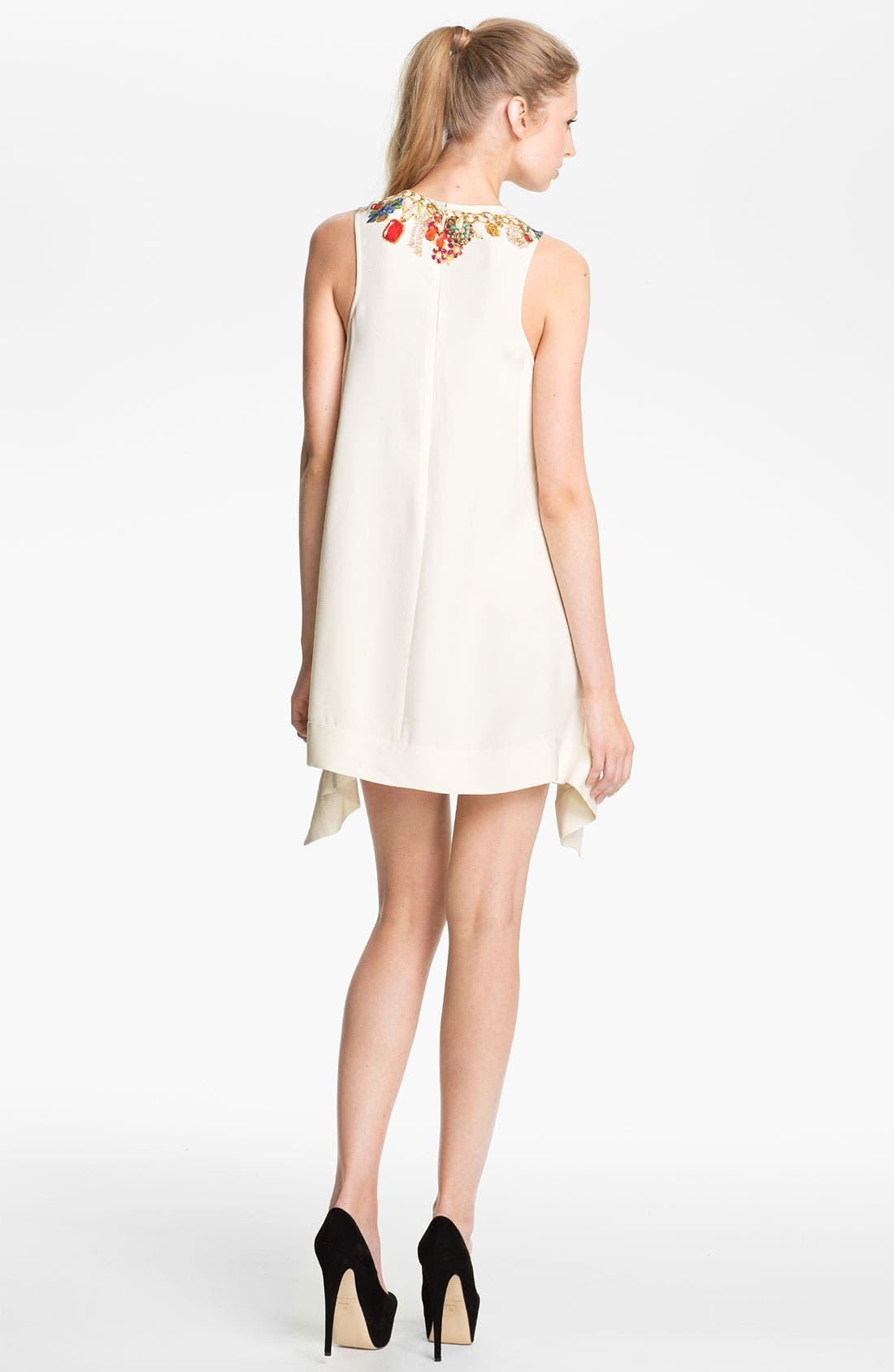 Alternate Image 2  - camilla and marc 'Adorned' Jewel Print Draped Dress