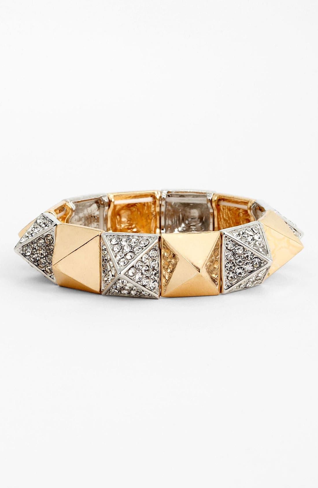 Main Image - BP. Rhinestone Pyramid Stretch Bracelet