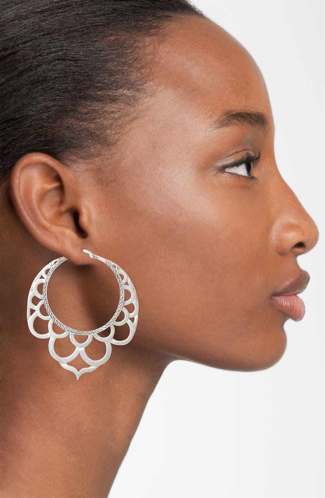 Alternate Image 2  - John Hardy 'Naga' Large Lace Hoop Earrings