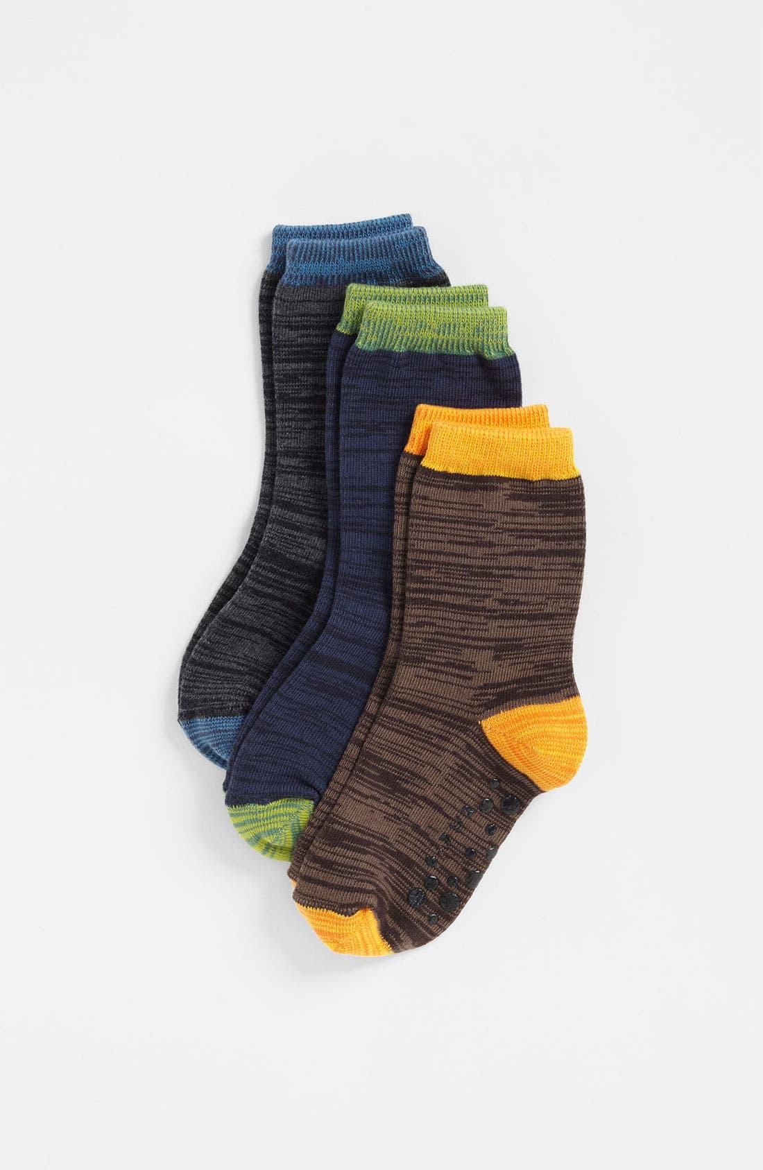 Alternate Image 1 Selected - Nordstrom 'Happy Space' Crew Socks (3-Pack) (Toddler & Little Boys)