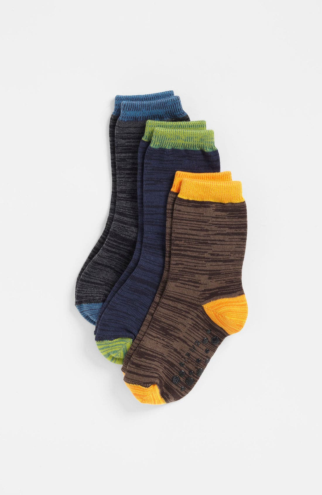 Main Image - Nordstrom 'Happy Space' Crew Socks (3-Pack) (Toddler & Little Boys)