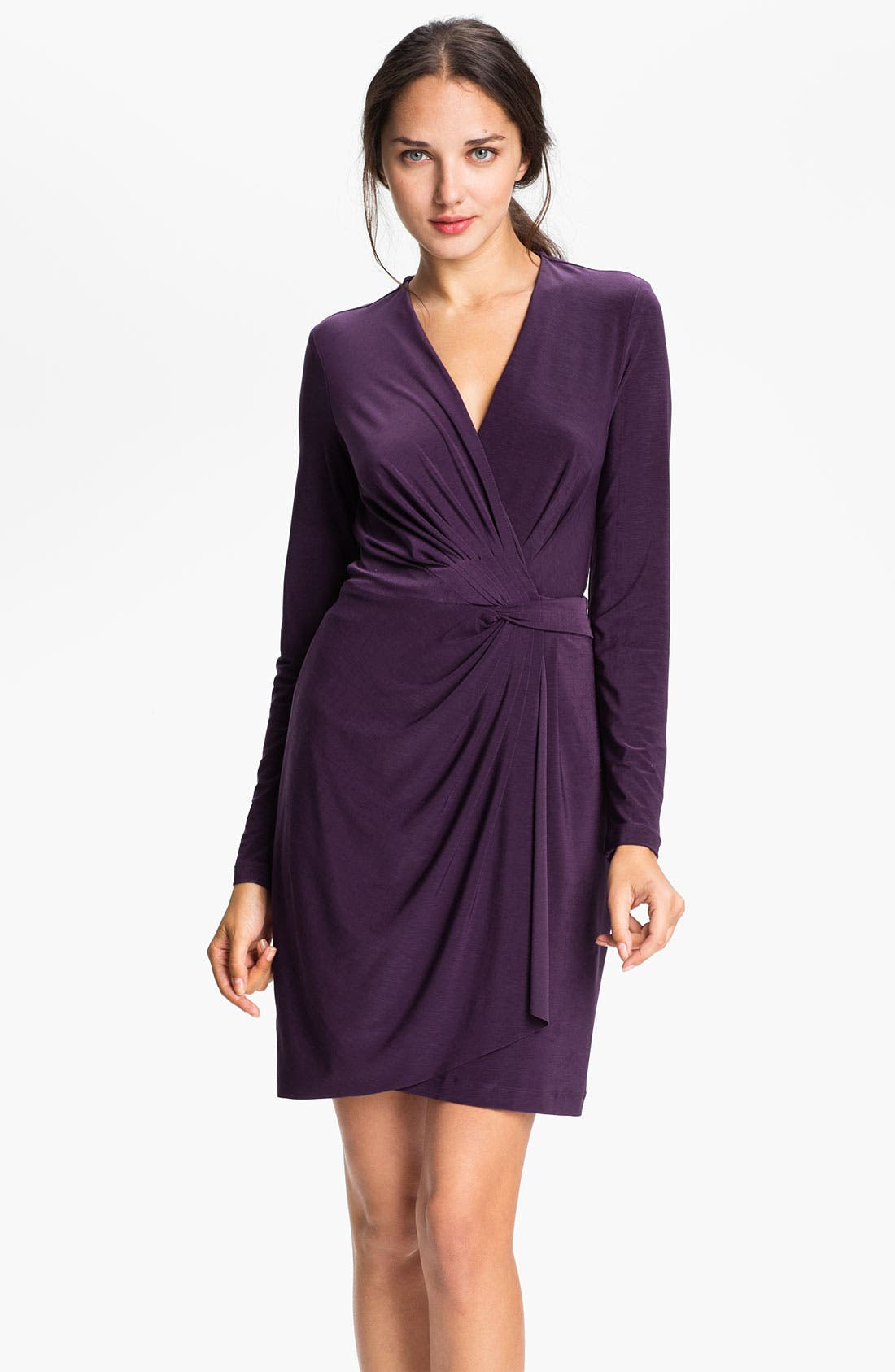 Alternate Image 1 Selected - Alex & Ava Draped Faux Wrap Dress