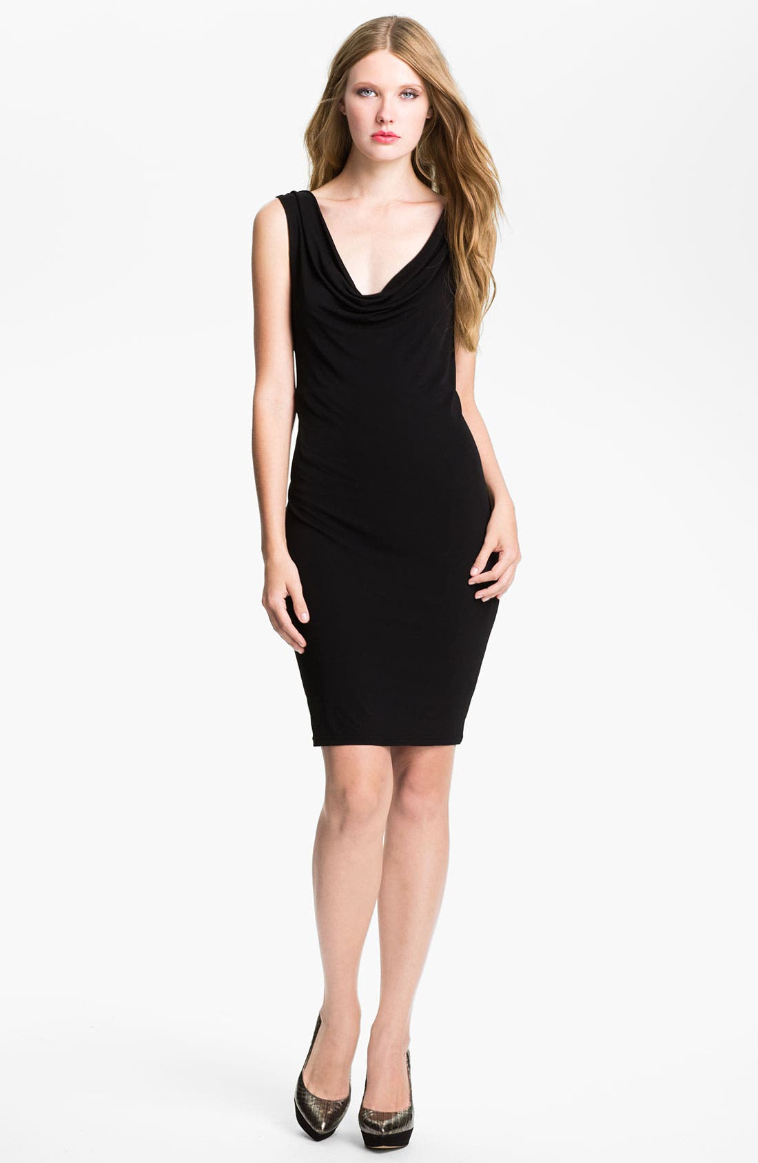 Main Image - Felicity & Coco Cowl Back Jersey Sheath Dress (Nordstrom Exclusive)