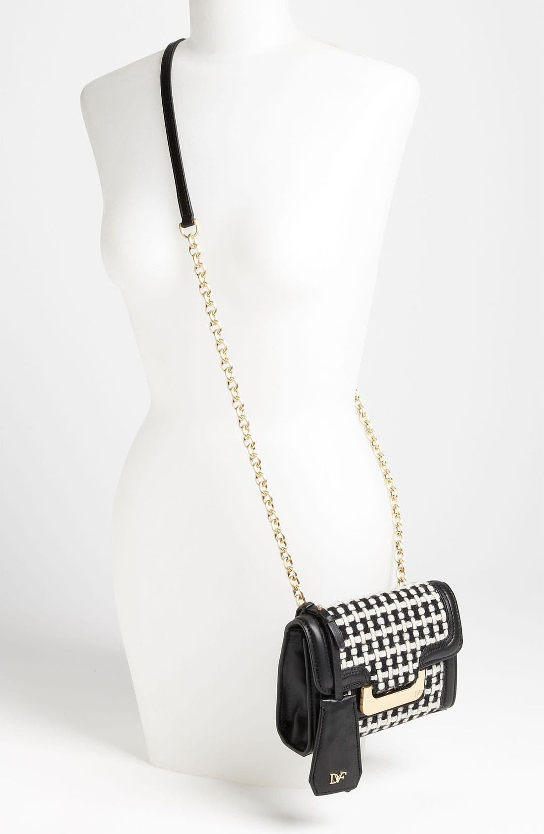 Alternate Image 2  - Diane von Furstenberg 'New Harper - Charlie' Checkered Wool Crossbody Bag