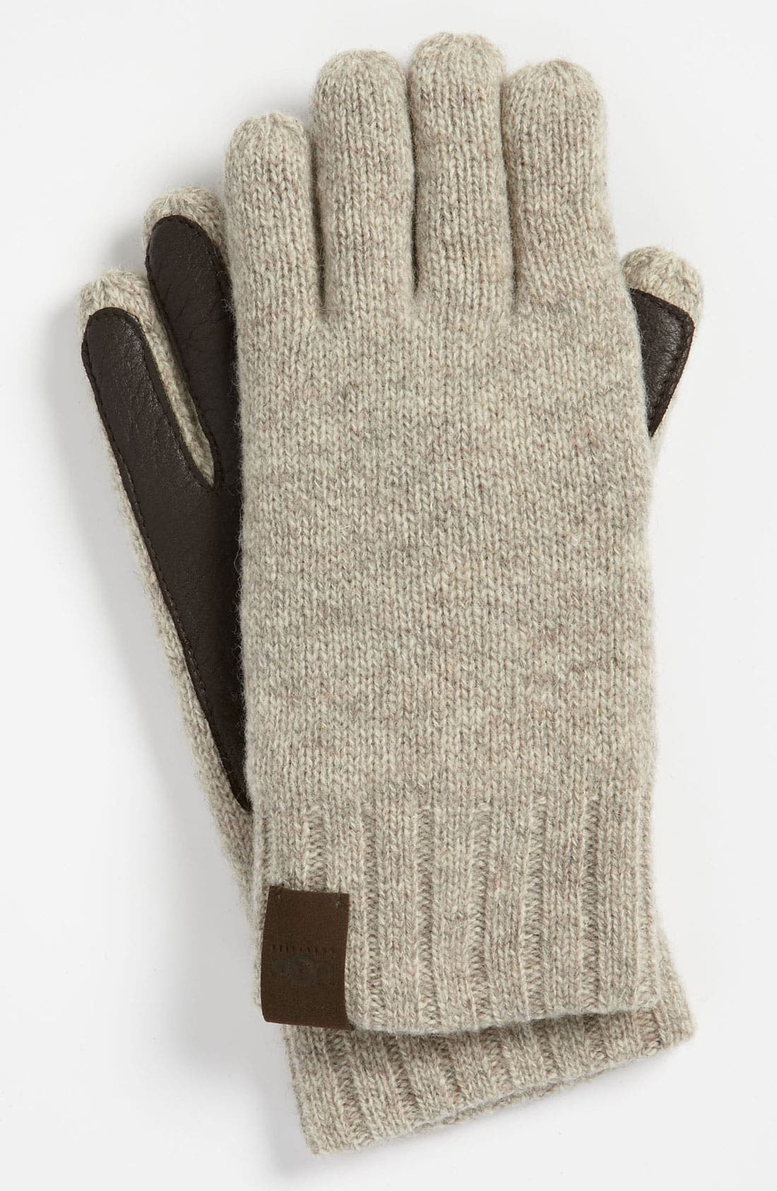 Alternate Image 1 Selected - UGG® Australia Lambswool & Leather Gloves
