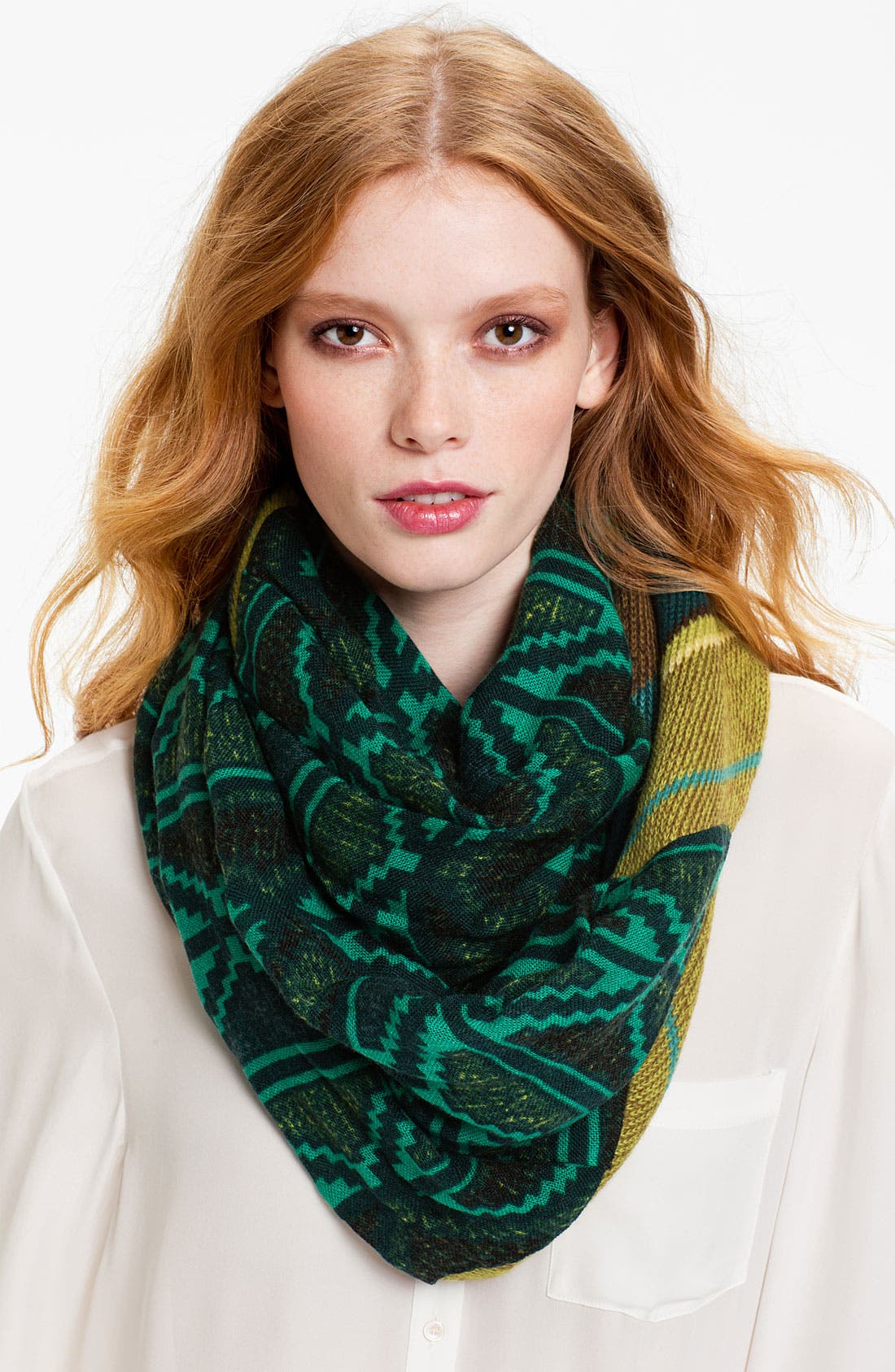 Alternate Image 1 Selected - Collection XIIX 'Diamond Folk Print' Infinity Scarf