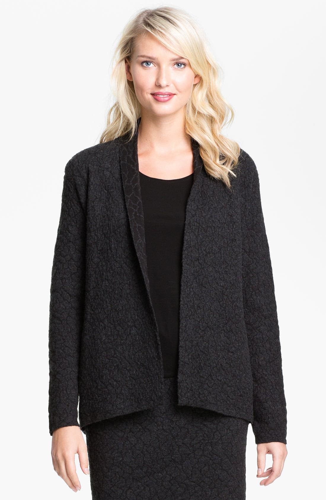 Alternate Image 1 Selected - Eileen Fisher Textured Jacket