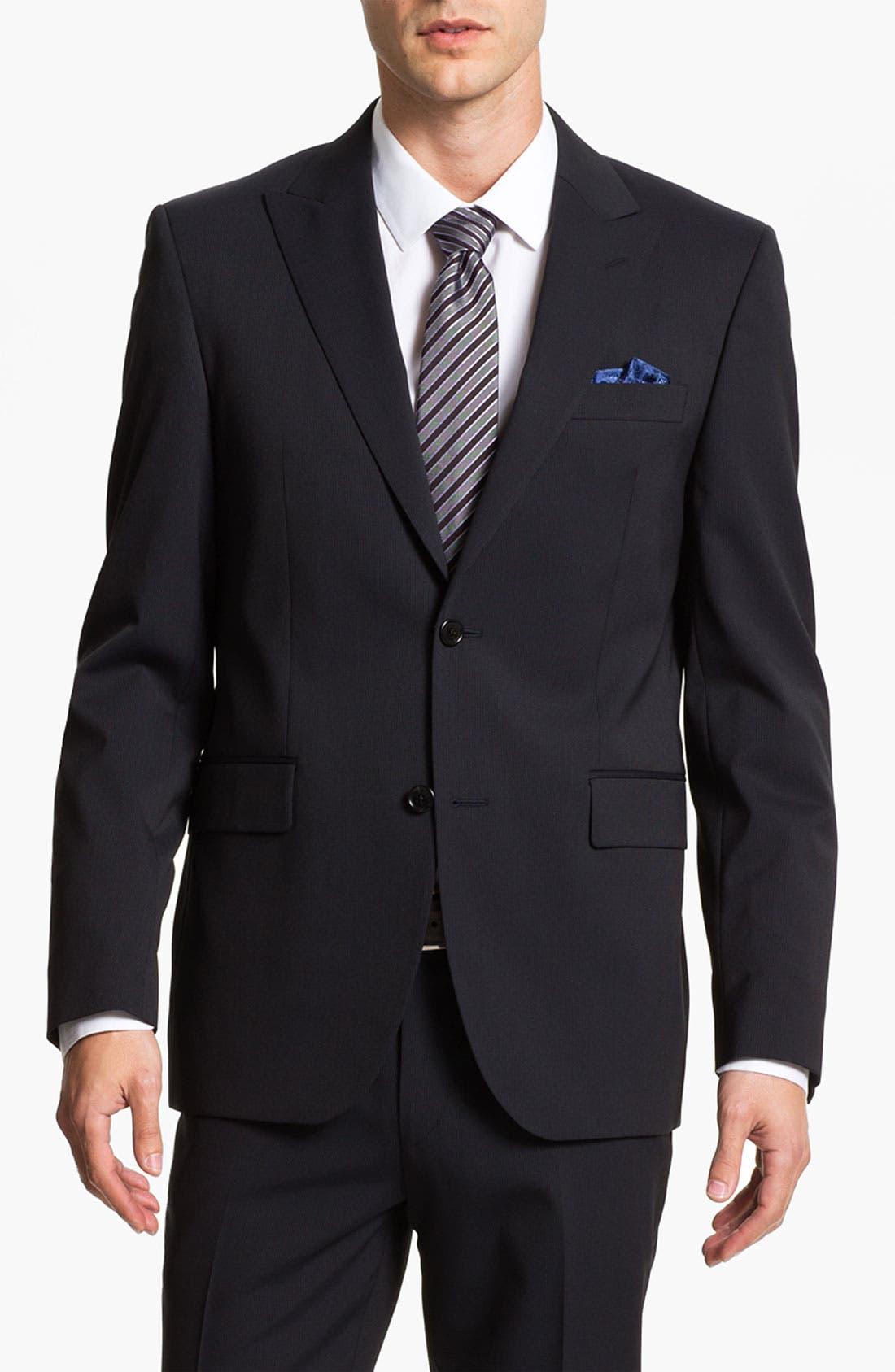 Main Image - Sand Trim Fit Wool Blend Suit