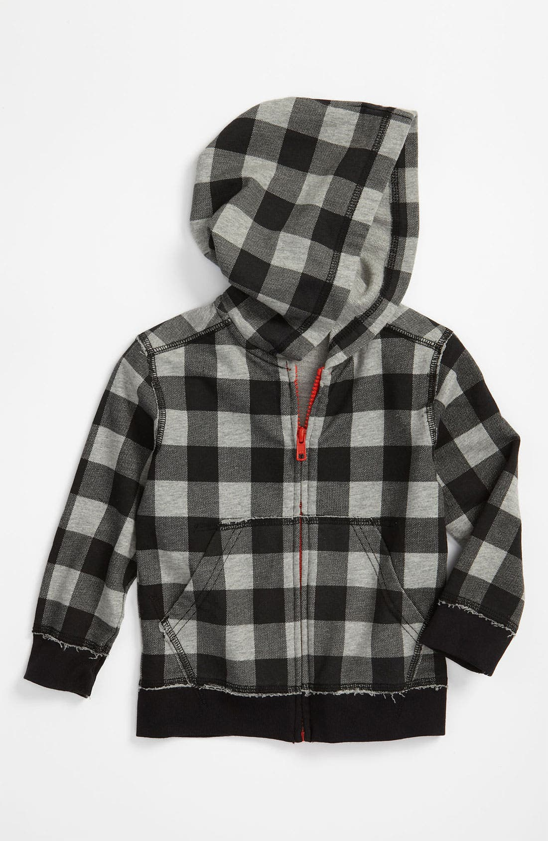 Alternate Image 1 Selected - Tea Collection 'Caribou' Plaid Hoodie (Toddler)