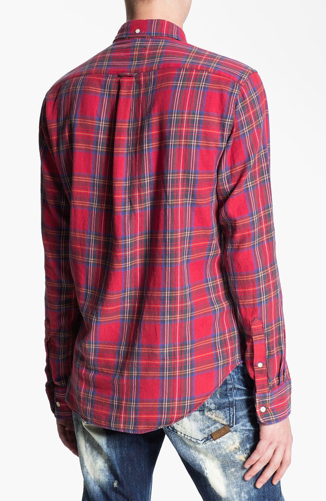 Alternate Image 2  - Gant Rugger 'Tinkering' Twill Plaid Shirt