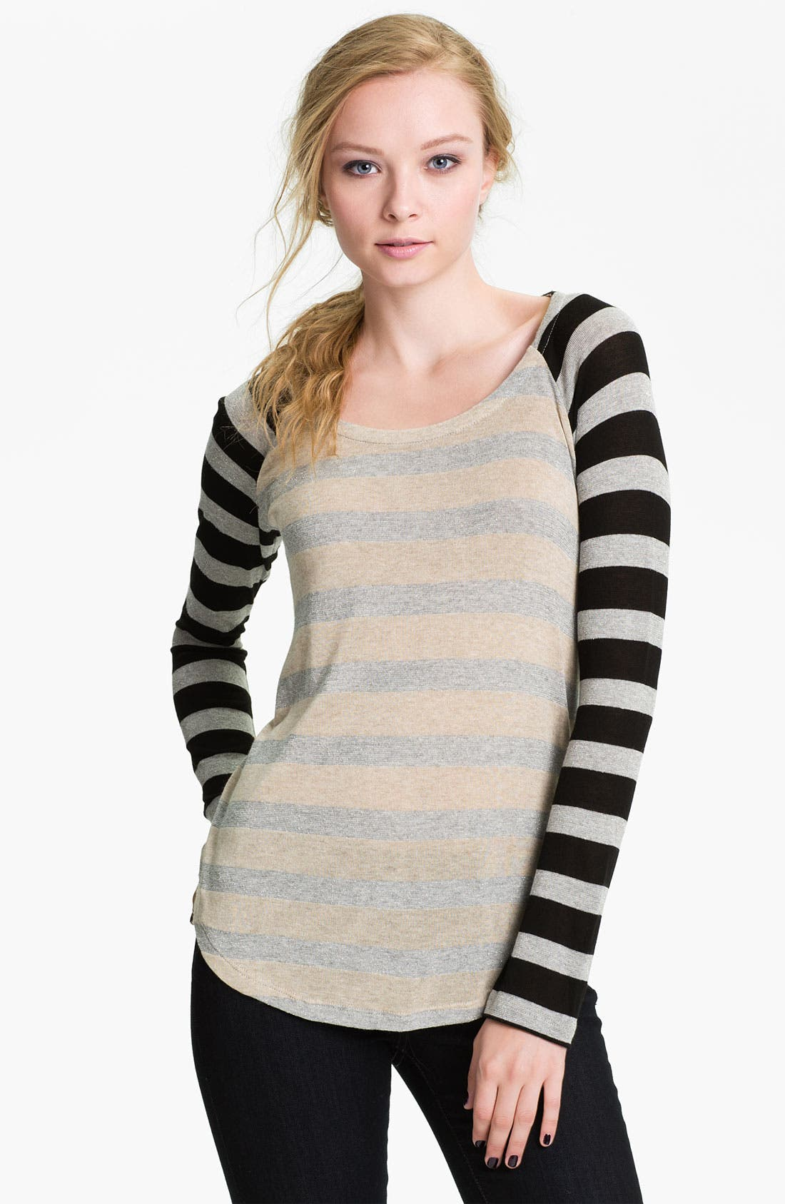 Alternate Image 1 Selected - Splendid 'Rugby' Stripe Baseball Tee