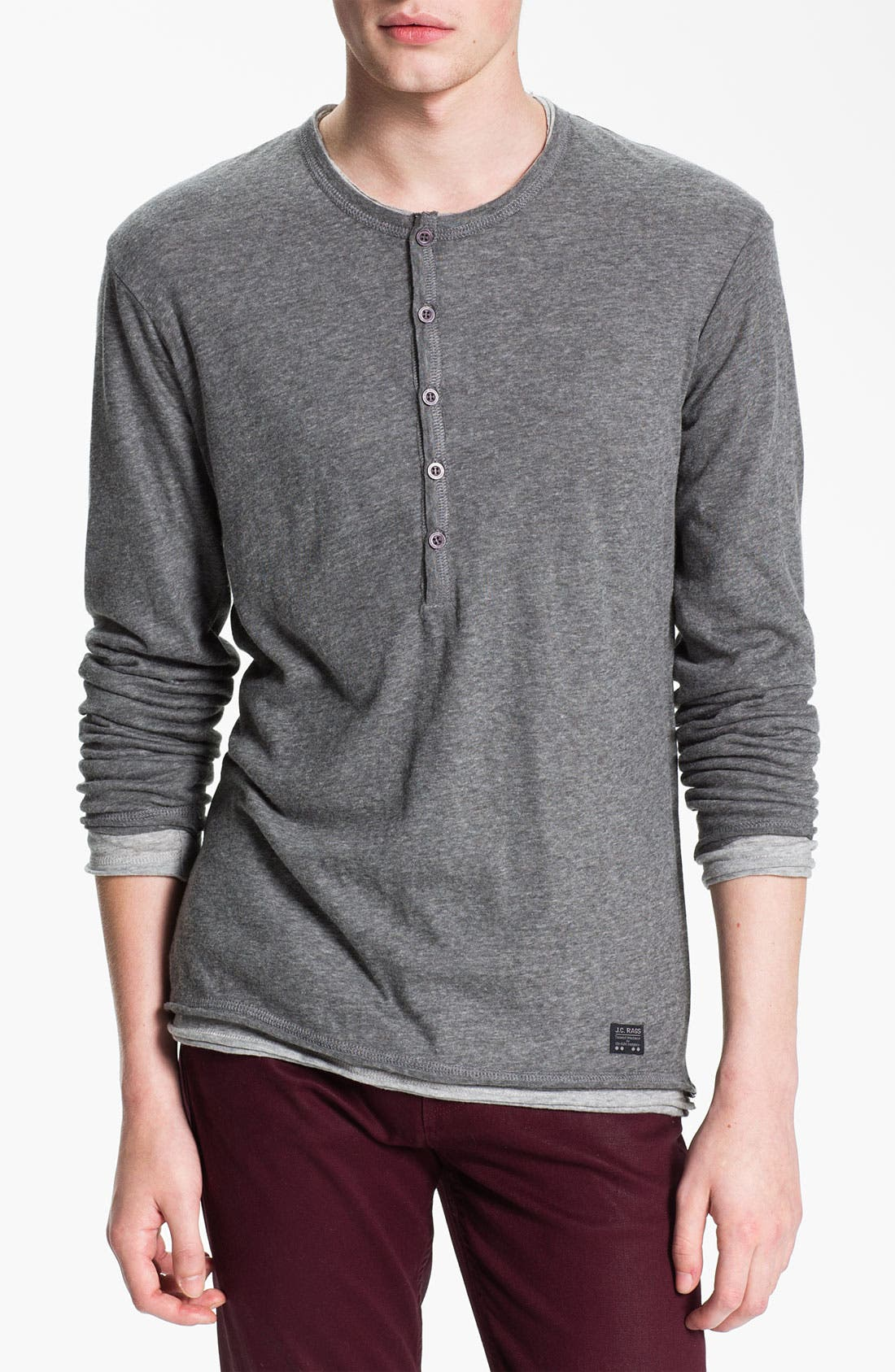 Alternate Image 1 Selected - J.C. Rag Double Layer Henley