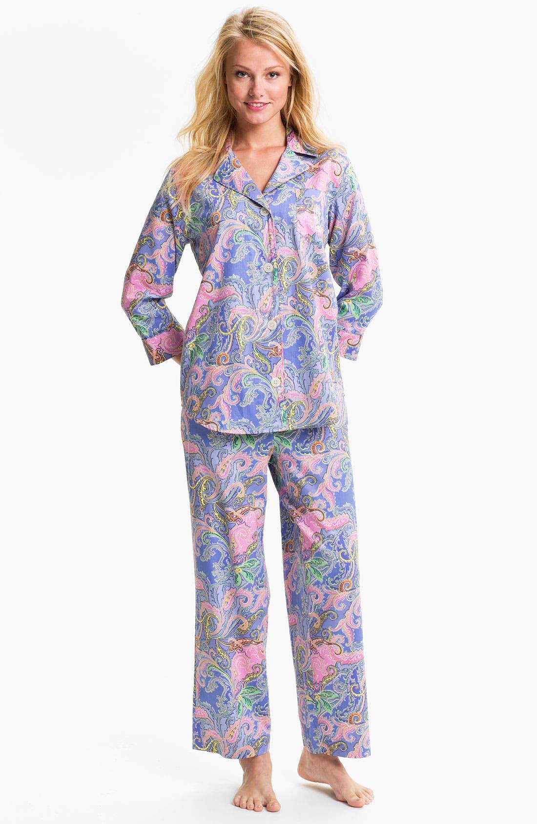 Main Image - Lauren Ralph Lauren Sleepwear Paisley Sateen Pajamas