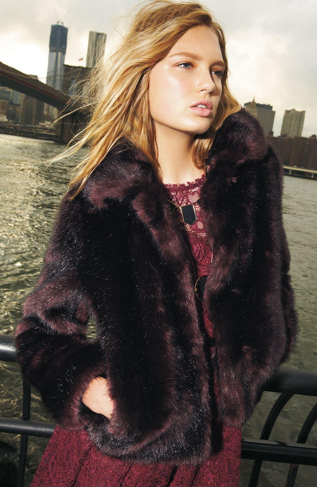Alternate Image 4  - Gallery Faux Fox Fur Jacket