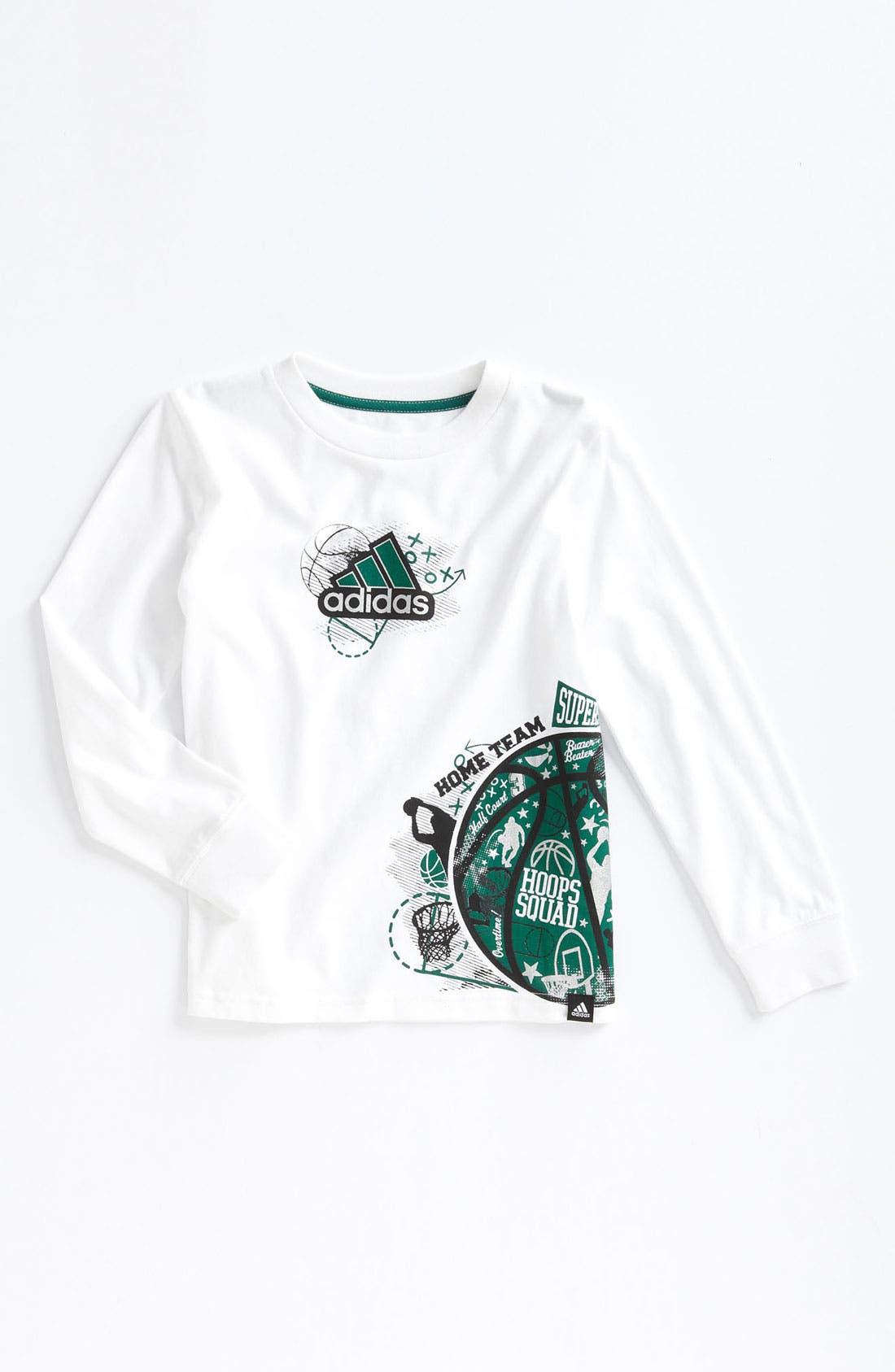 Main Image - adidas 'Playbook' T-Shirt (Little Boys)