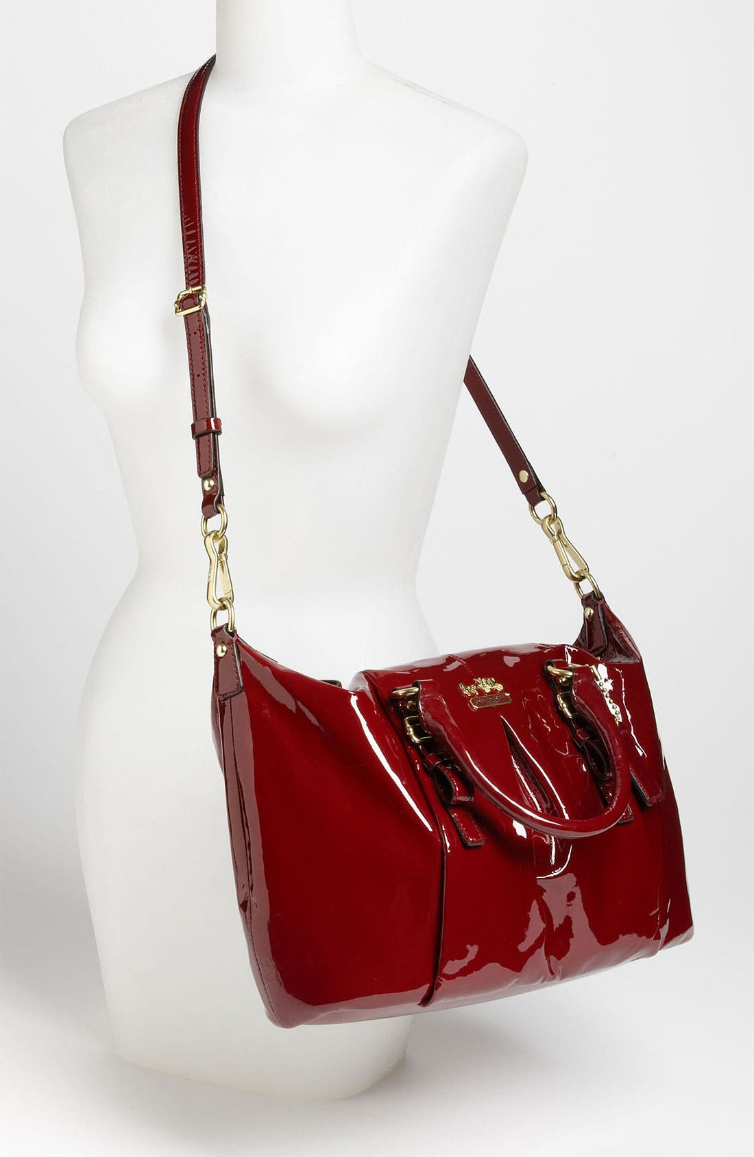 Alternate Image 2  - COACH 'New Madison - Juliette' Patent Leather Satchel