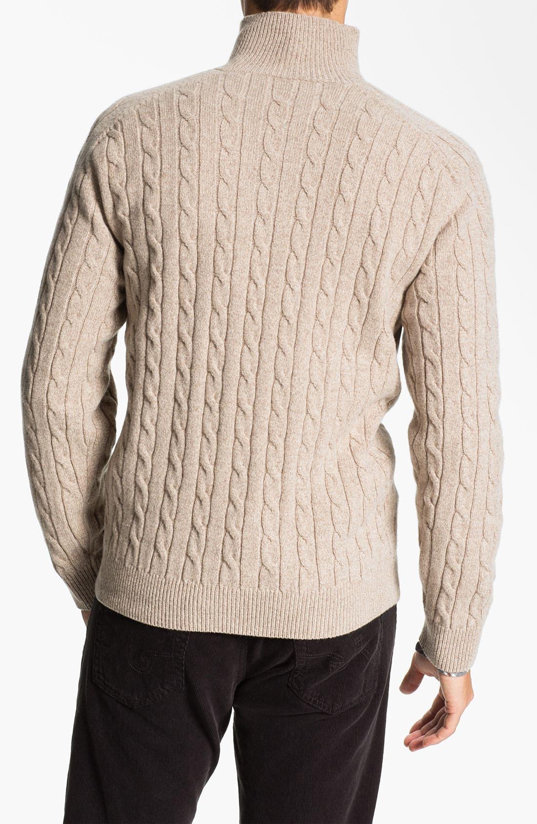 Alternate Image 2  - Lora Gi Half Zip Wool & Cashmere Sweater