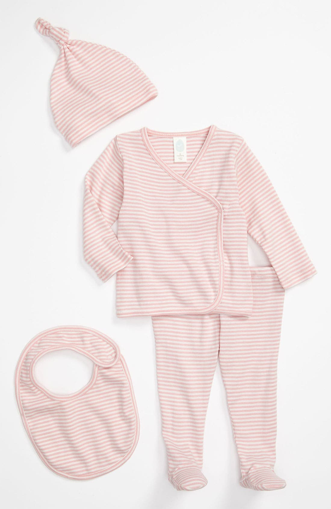 Alternate Image 1 Selected - Stem Baby Organic Cotton Shirt, Pants, Hat & Bib (Baby)