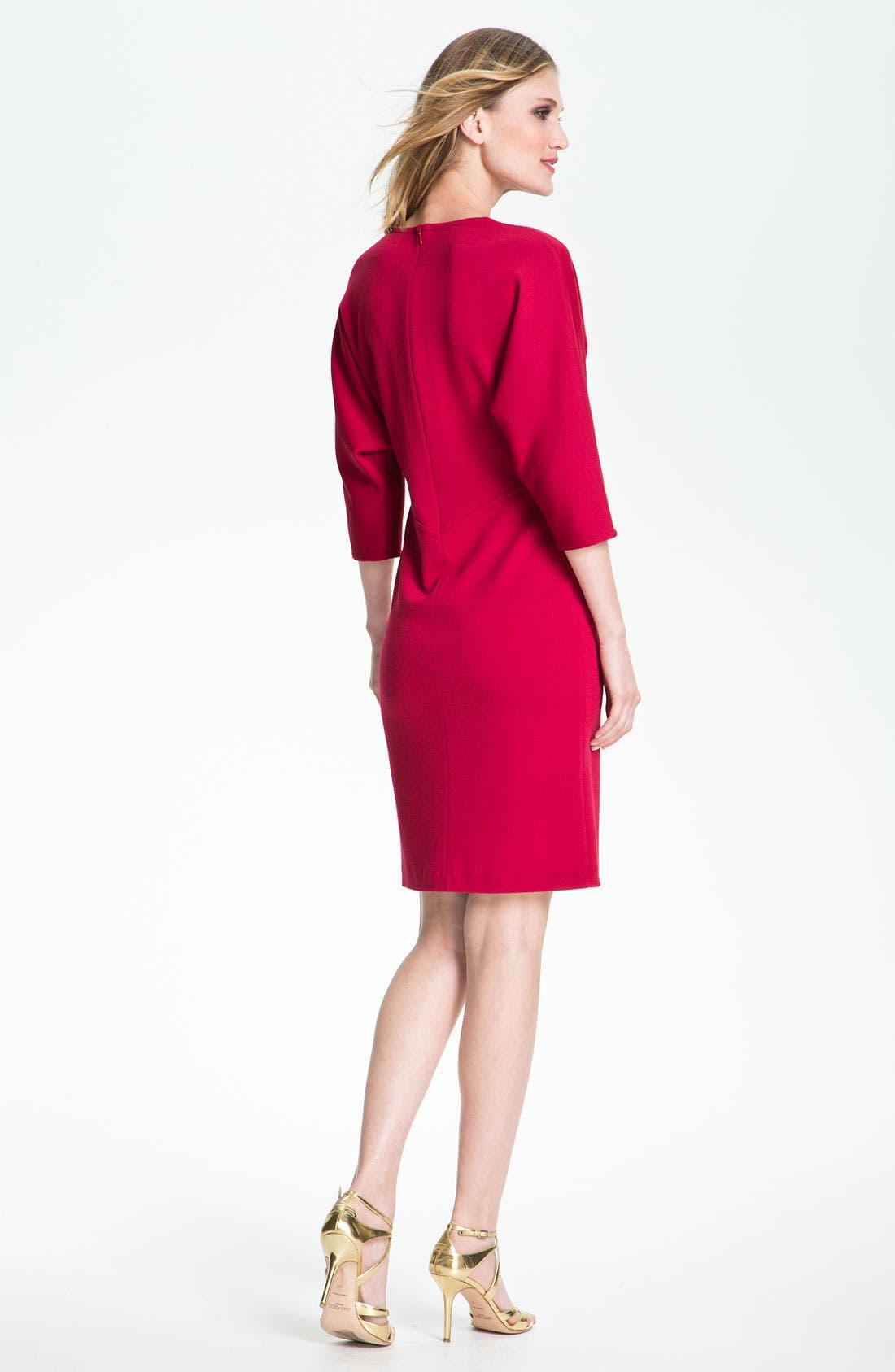 Alternate Image 2  - St. John Collection V-Neck Milano Knit Dress