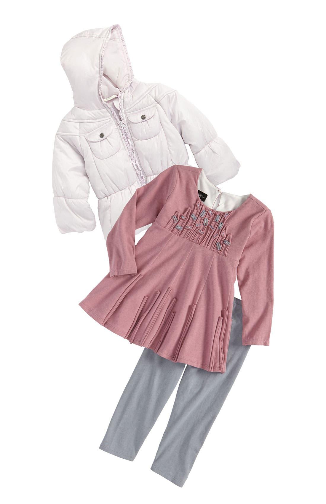 Main Image - Isobella & Chloe Dress & Leggings (Infant)