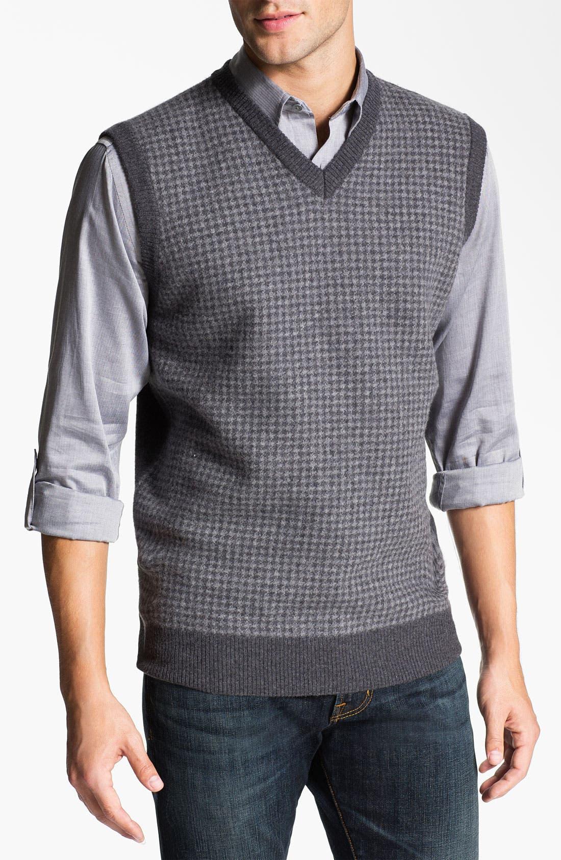 Alternate Image 1 Selected - Franco Danti V-Neck Wool Sweater Vest