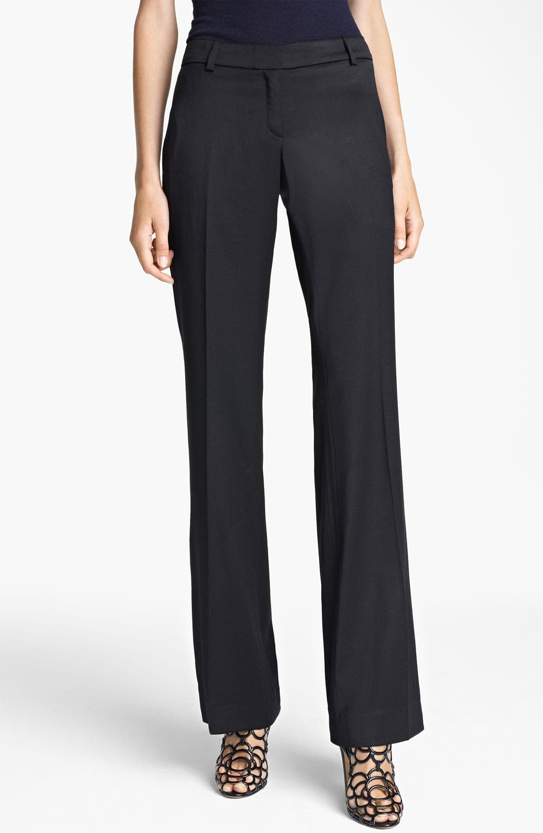 Alternate Image 1 Selected - Oscar de la Renta Gabardine Pants