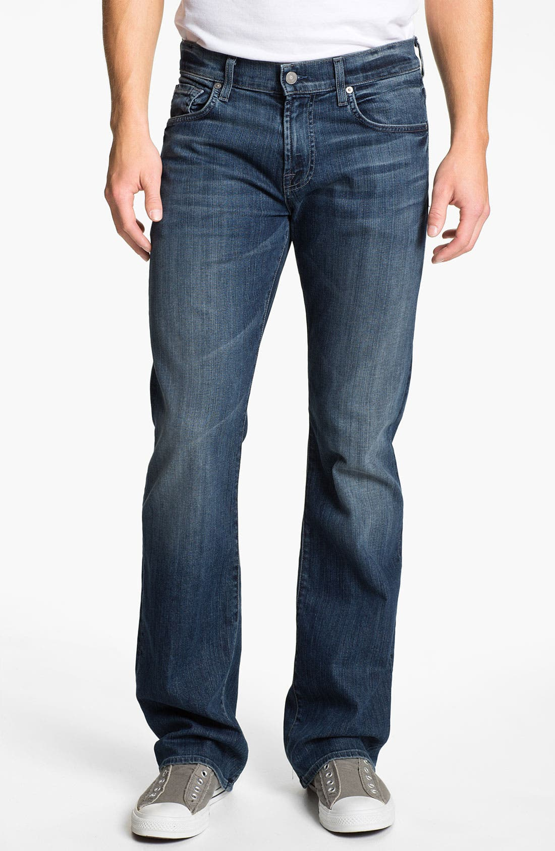 Alternate Image 2  - 7 For All Mankind® 'Brett' Bootcut Jeans (Nakkita Grey)