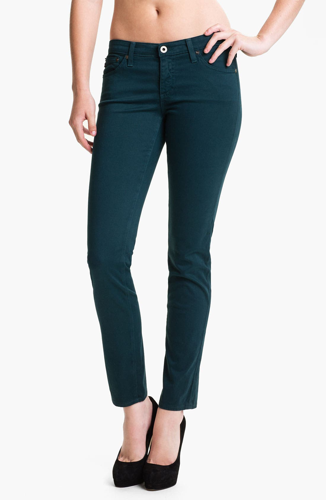 Alternate Image 1 Selected - AG 'Stilt' Skinny Ankle Jeans (Juniper)