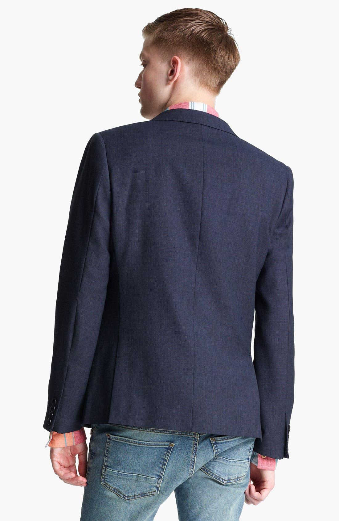 Alternate Image 2  - Topman 'Chester' Skinny Blazer
