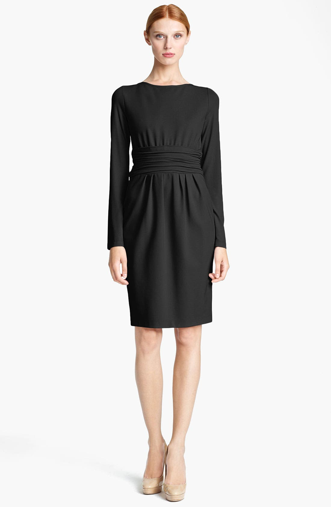 Main Image - Max Mara 'Angolo' Ruched Waist Jersey Dress