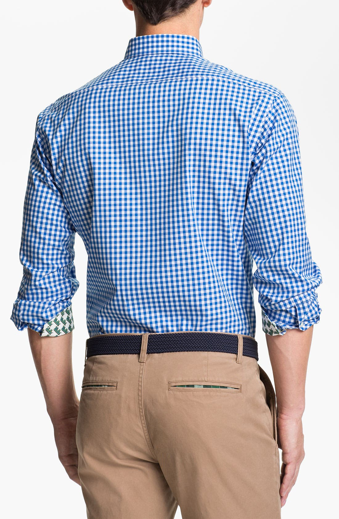 Alternate Image 2  - Thomas Dean 'UCLA' Gingham Sport Shirt