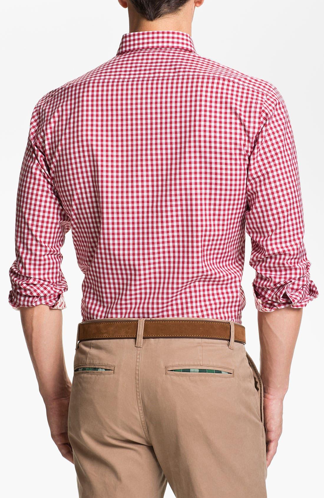 Alternate Image 2  - Thomas Dean 'Stanford University' Traditional Fit Sport Shirt