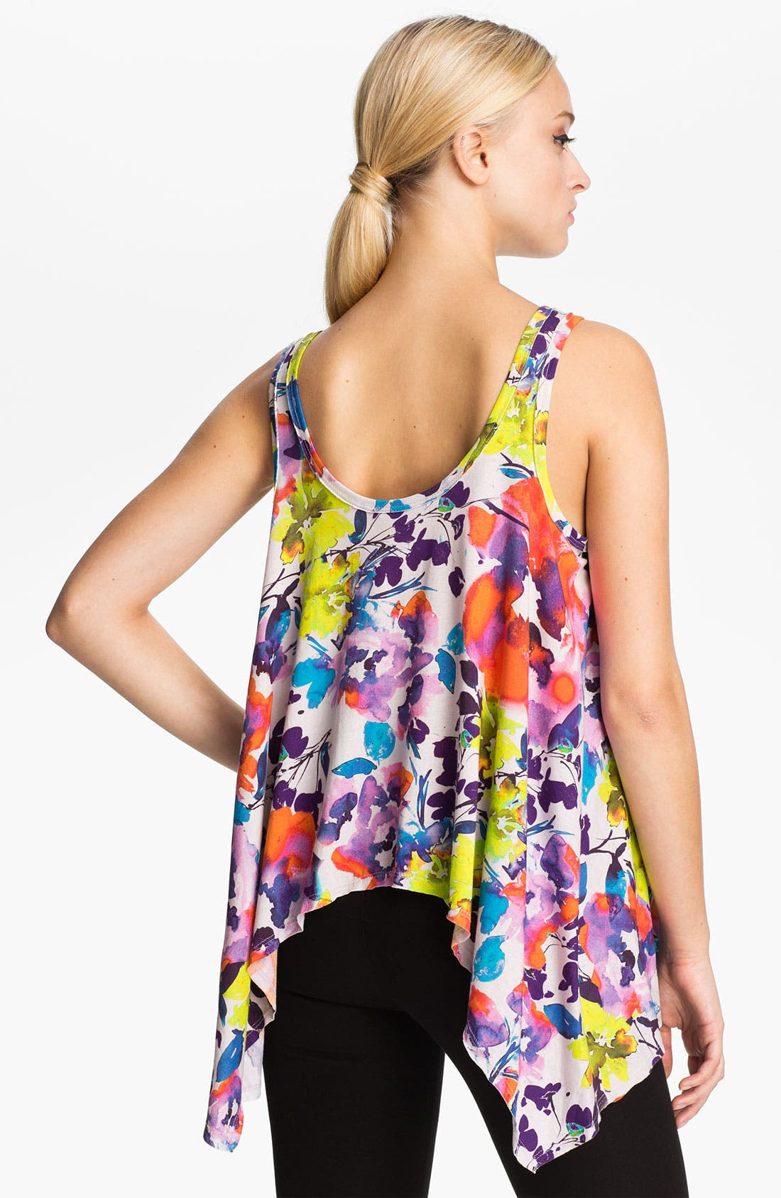 Alternate Image 2  - Alice + Olivia Curved Hem Tank