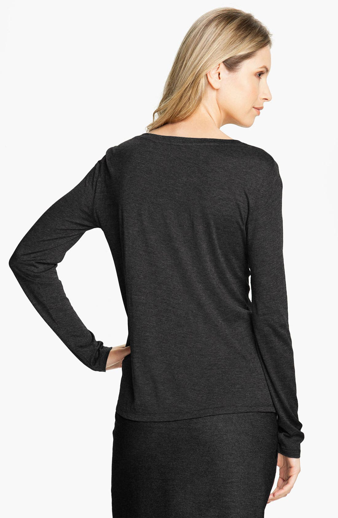 Alternate Image 2  - Eileen Fisher Long Sleeve Jersey Tee (Online Exclusive)