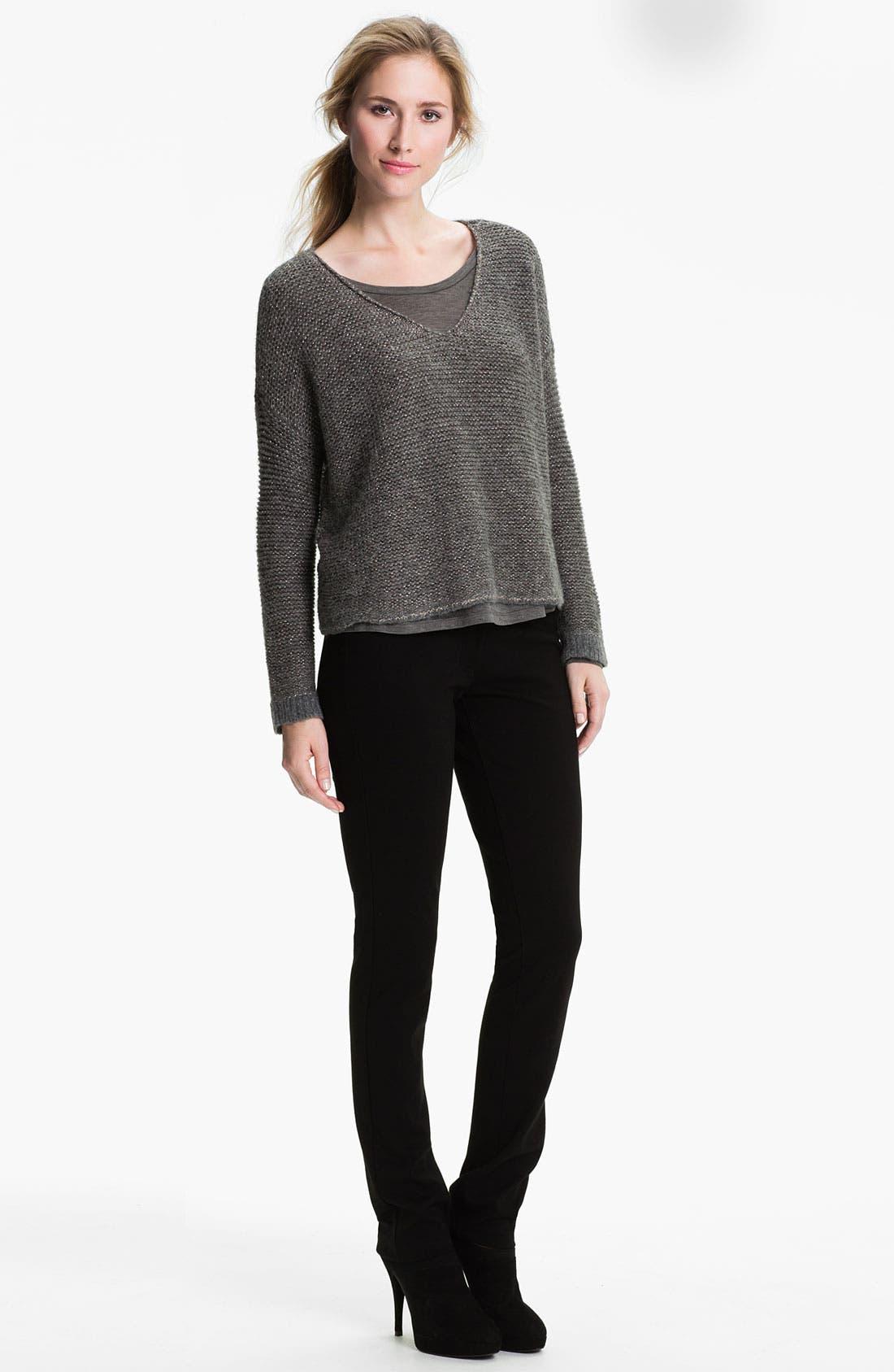 Alternate Image 4  - Eileen Fisher 'Alpaca Sparkle' V-Neck Sweater