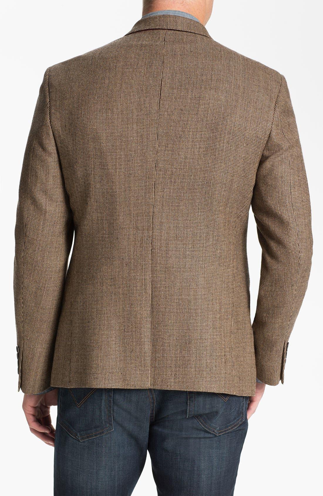 Alternate Image 2  - Dockers® Three-Button Houndstooth Wool Blazer