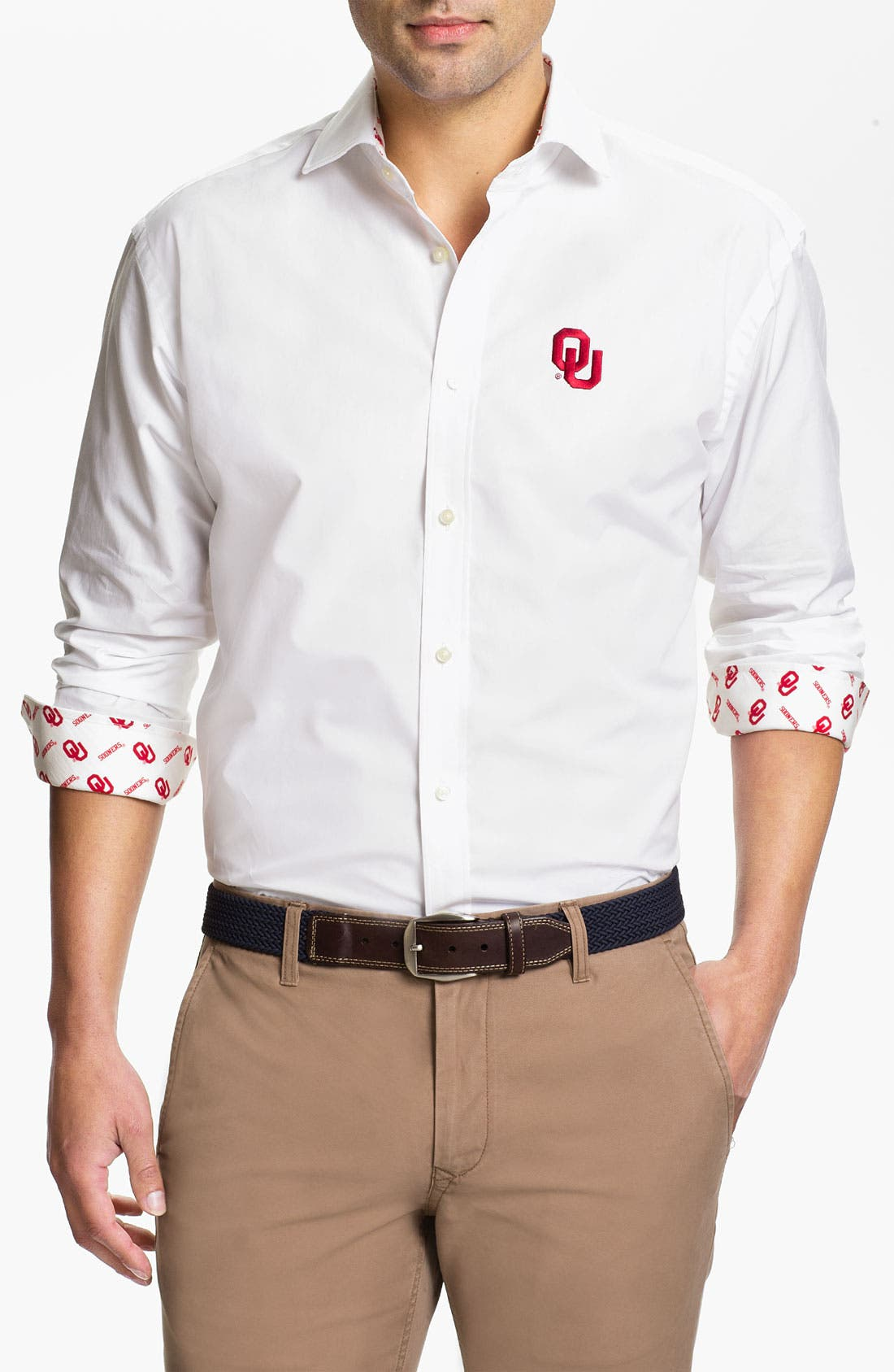 Alternate Image 1 Selected - Thomas Dean 'University of Oklahoma' Sport Shirt
