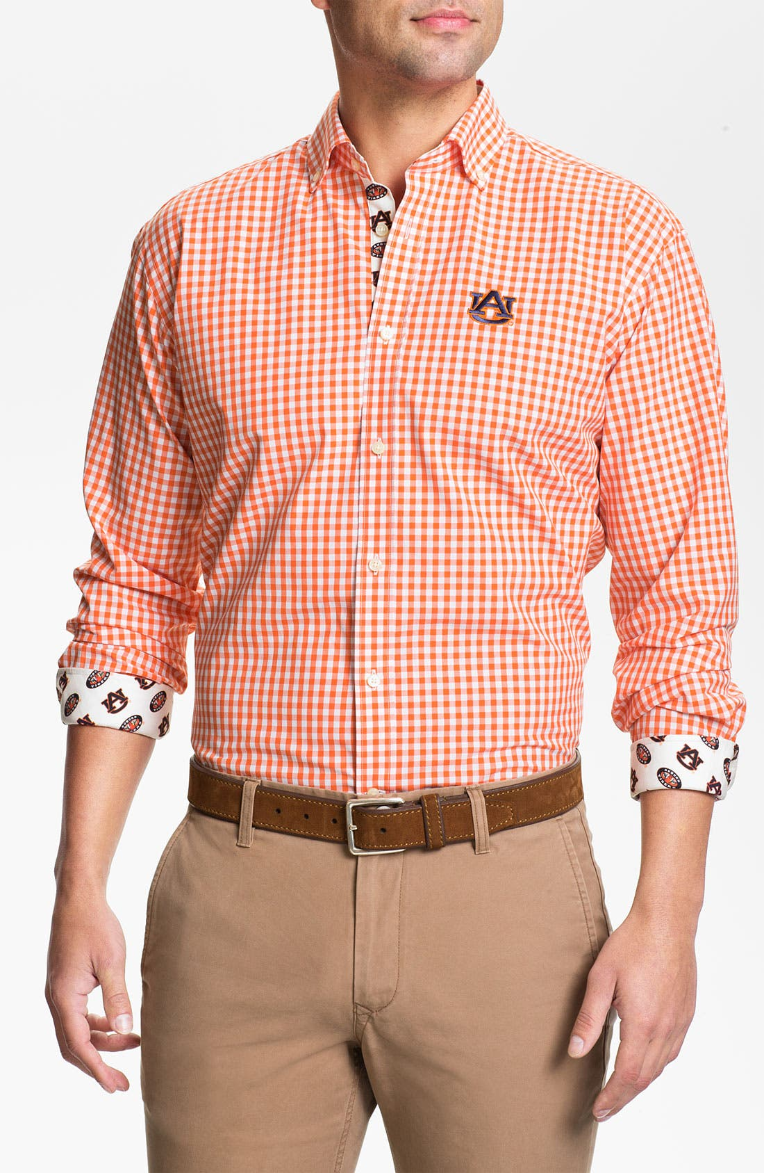 Alternate Image 1 Selected - Thomas Dean 'Auburn University' Regular Fit Sport Shirt (Online Only)