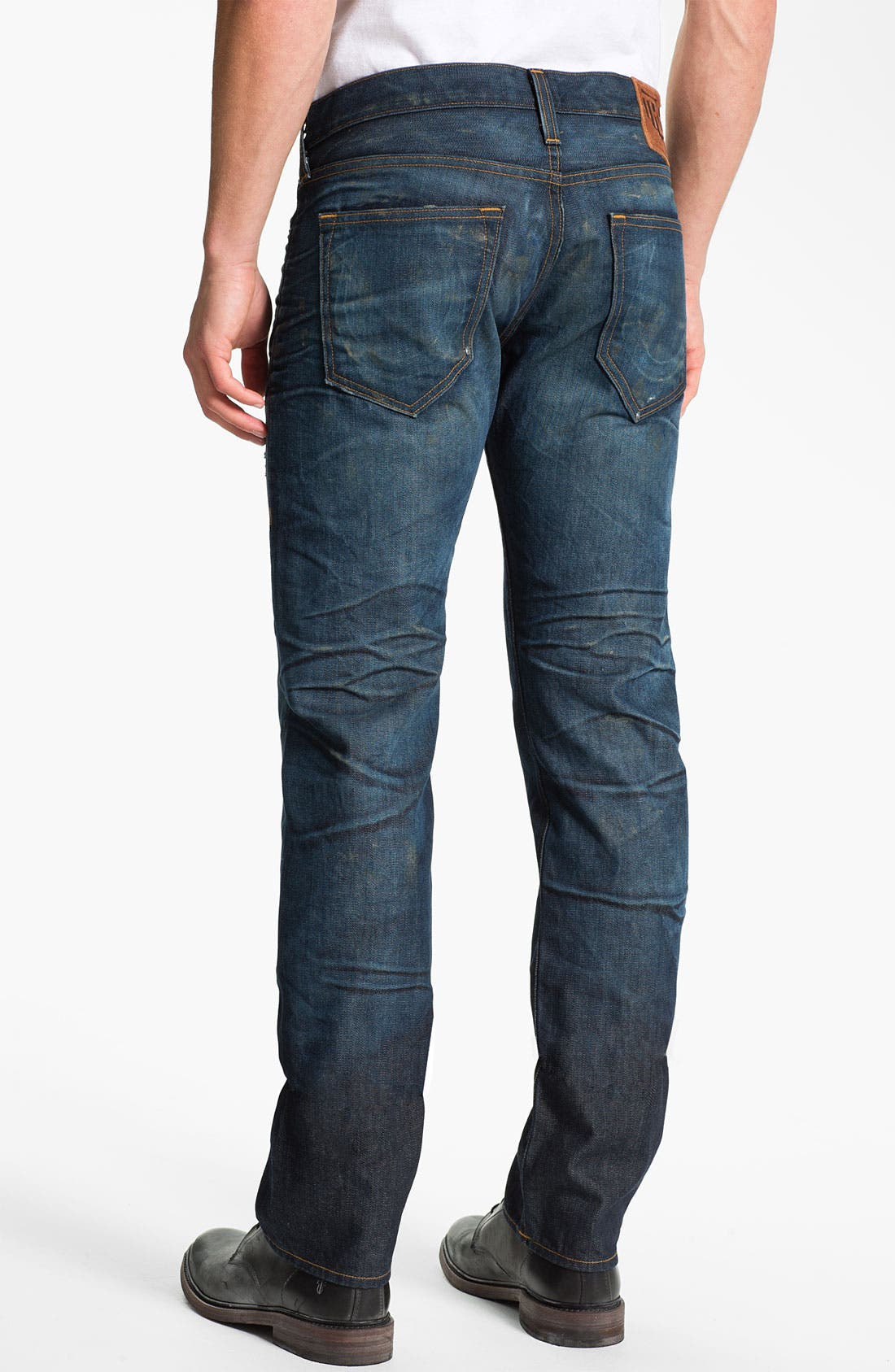 Alternate Image 1 Selected - True Religion Brand Jeans 'Geno 1971' Slim Straight Leg Jeans (Hideout)