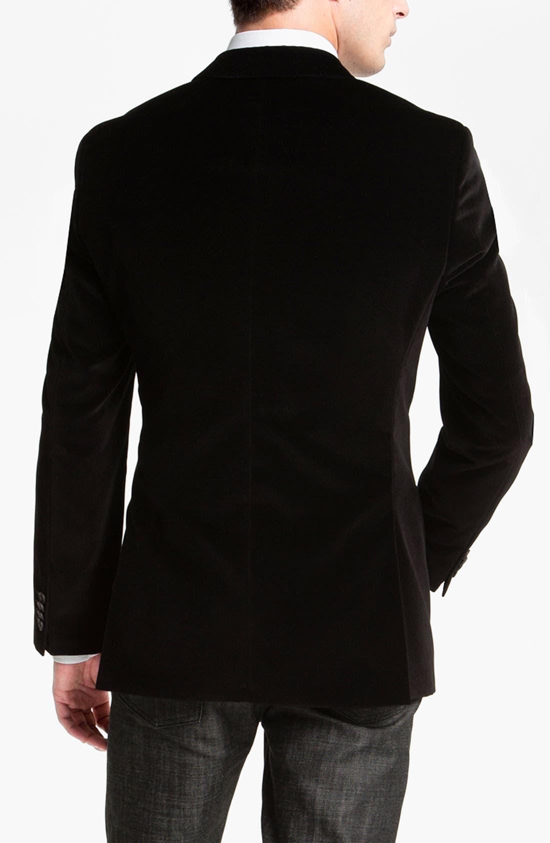 Alternate Image 2  - BOSS Black 'Keys' Velvet Blazer