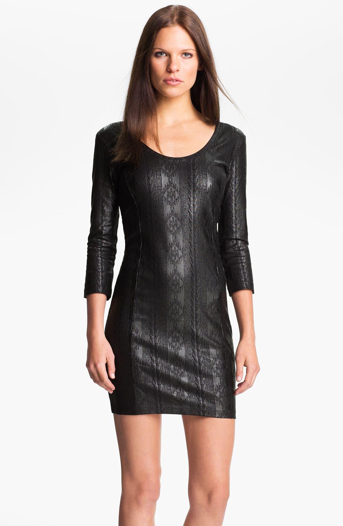 Alternate Image 1 Selected - Obey 'Desert Rain' Coated Print Dress