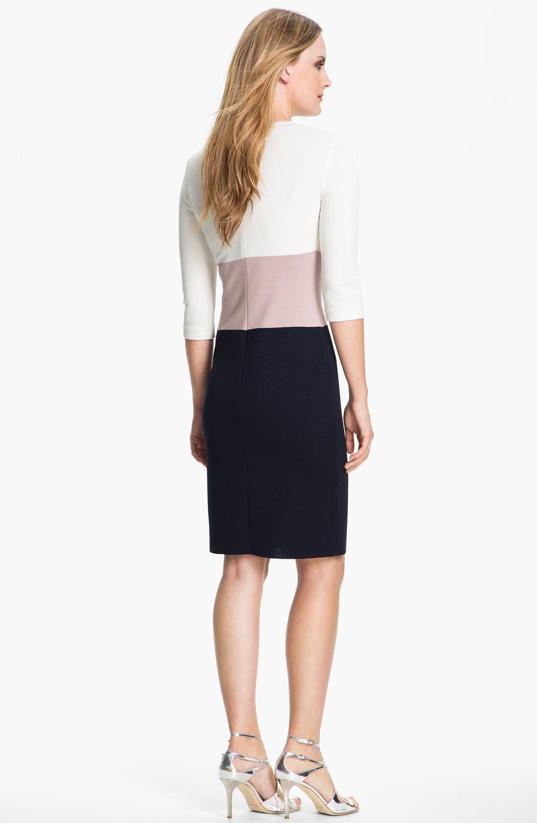 Alternate Image 2  - St. John Collection Colorblock Milano Knit Dress