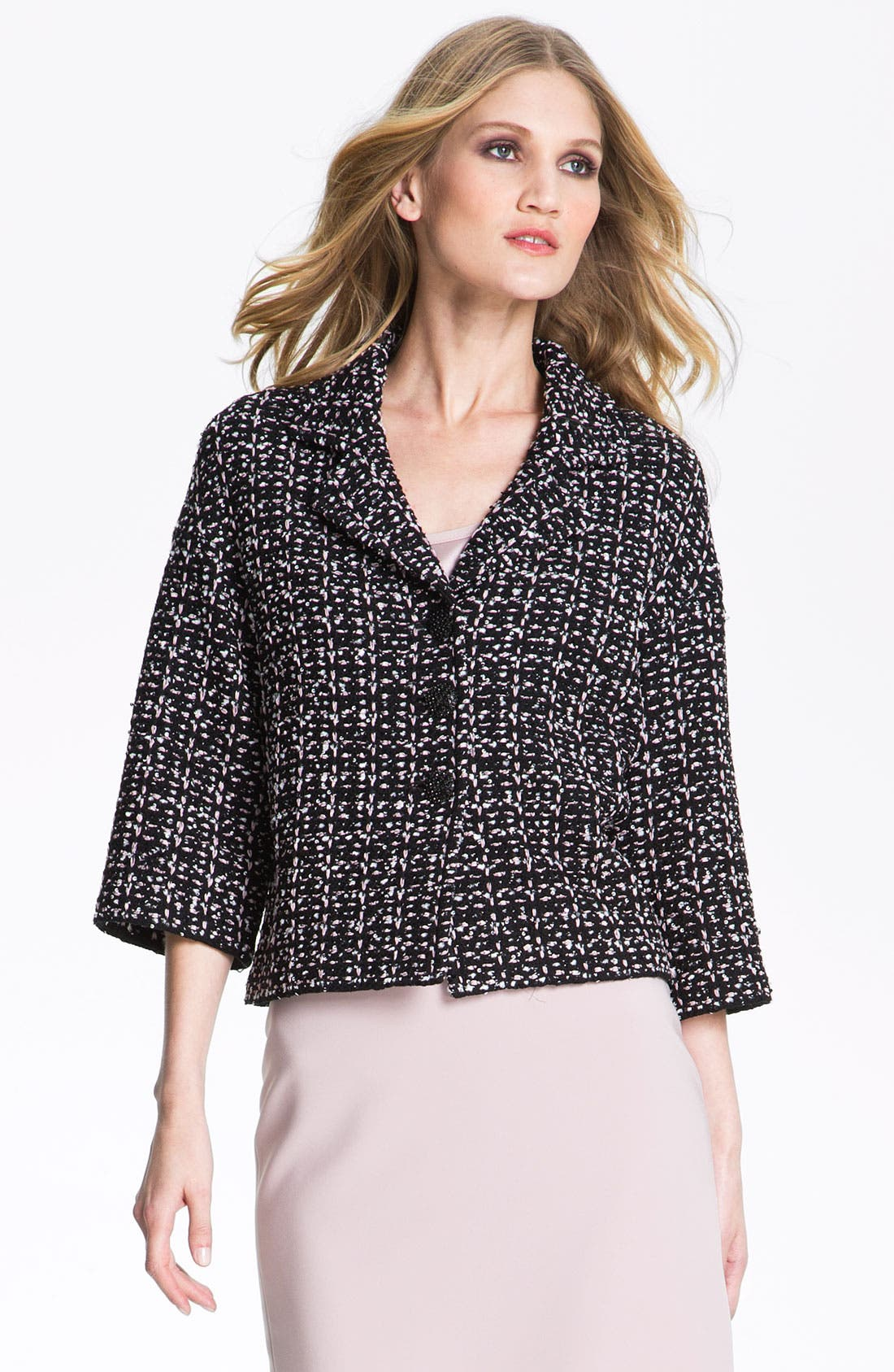 Alternate Image 2  - St. John Collection Ribbon Sequin Knit Crop Jacket