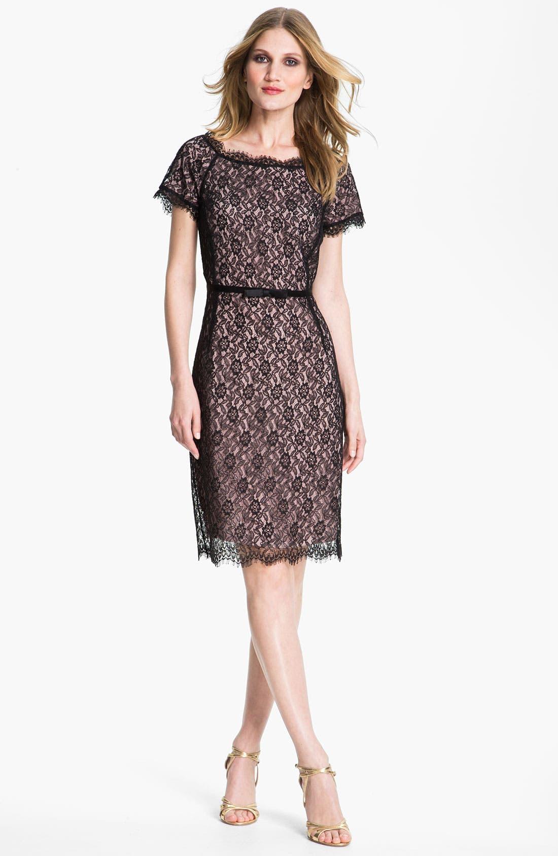 Main Image - St. John Collection Floral Lace Dress