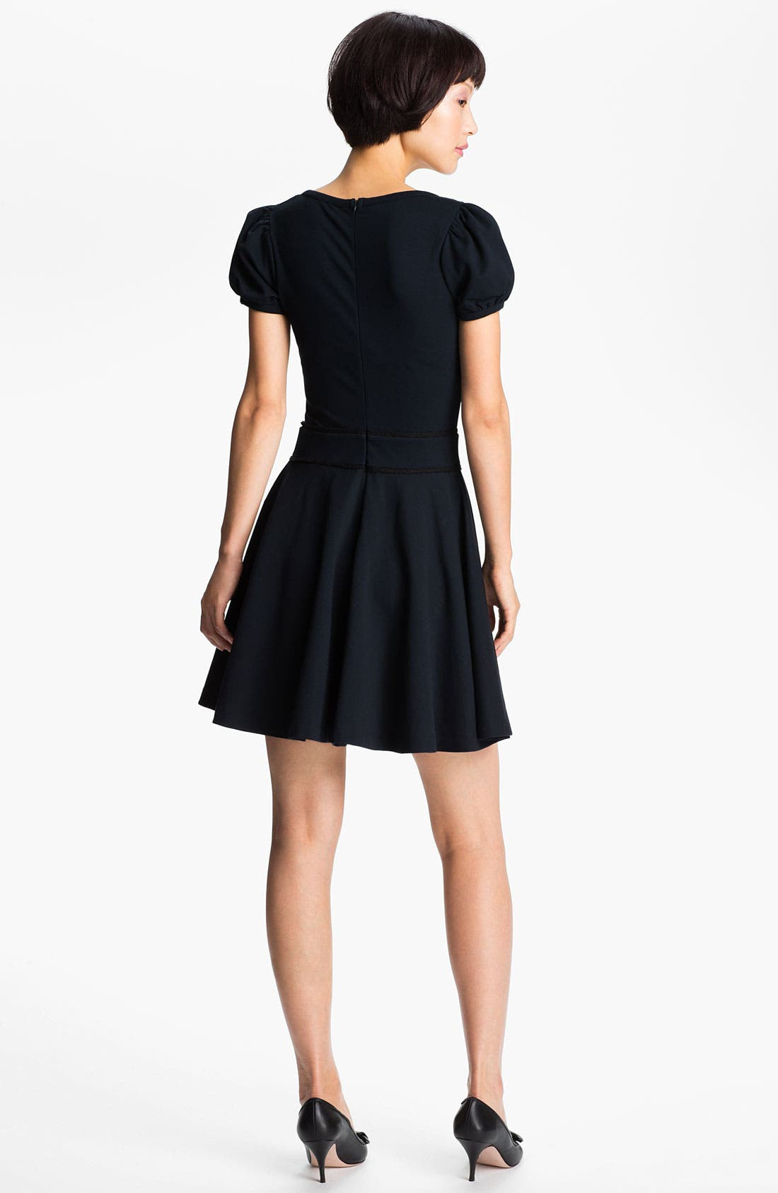 Alternate Image 2  - RED Valentino Bow Waist Jersey Dress