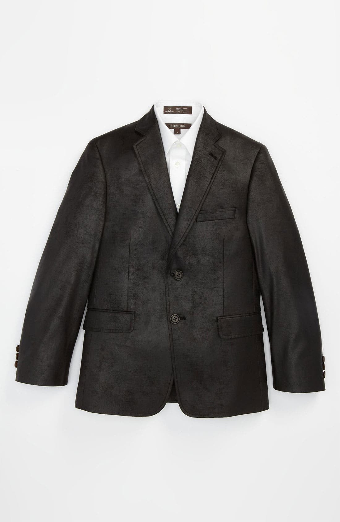 Alternate Image 1 Selected - Joseph Abboud Faux Leather Blazer (Big Boys)