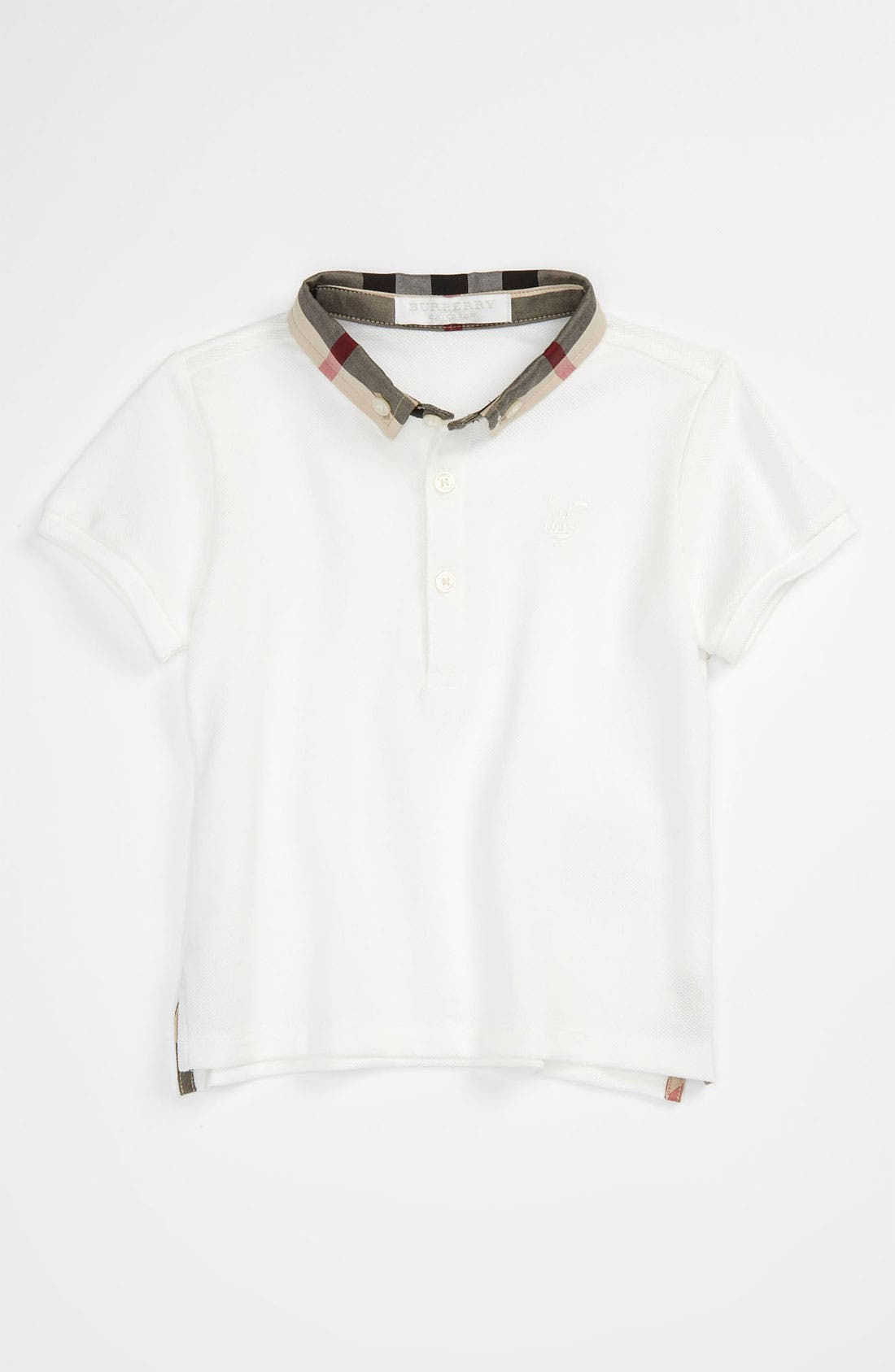 Alternate Image 1 Selected - Burberry Check Collar Polo (Toddler, Little Boys & Big Boys)